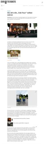 """Als ob's die """"Fab Four"""" selbst wären - Startseite - Teckbote  - www.teckbote.de"""